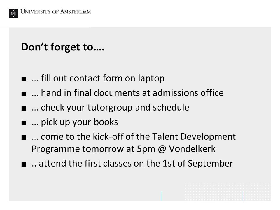 Don't forget to…. … fill out contact form on laptop