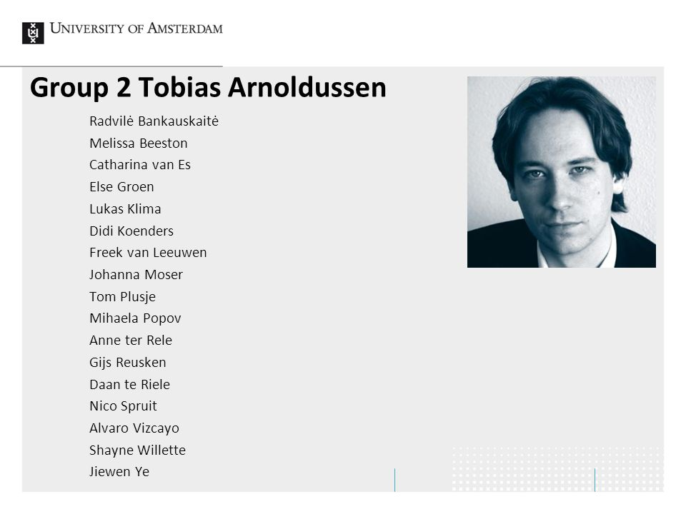 Group 2 Tobias Arnoldussen