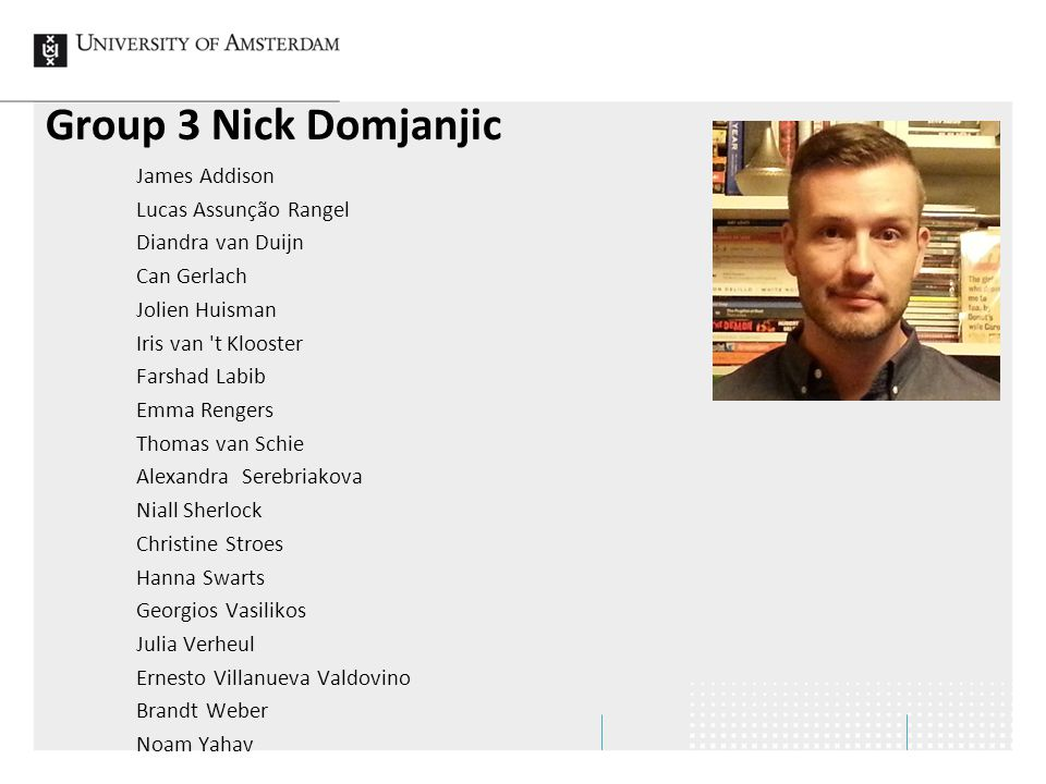 Group 3 Nick Domjanjic