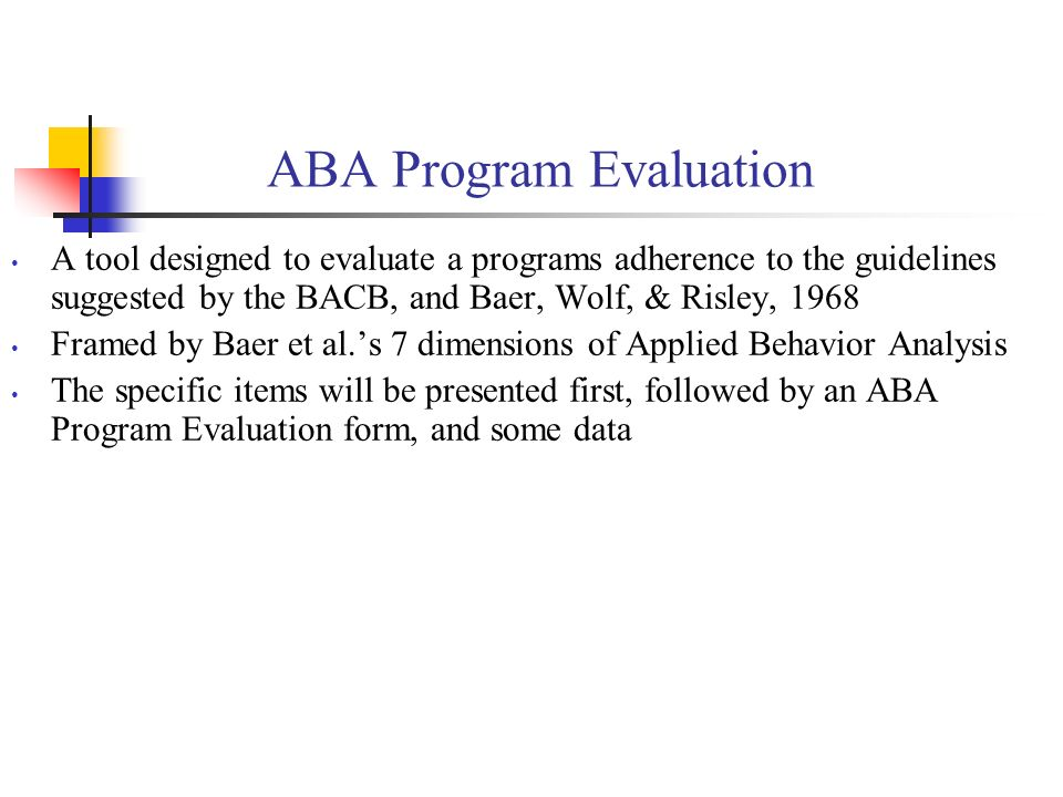 ABA Program Evaluation