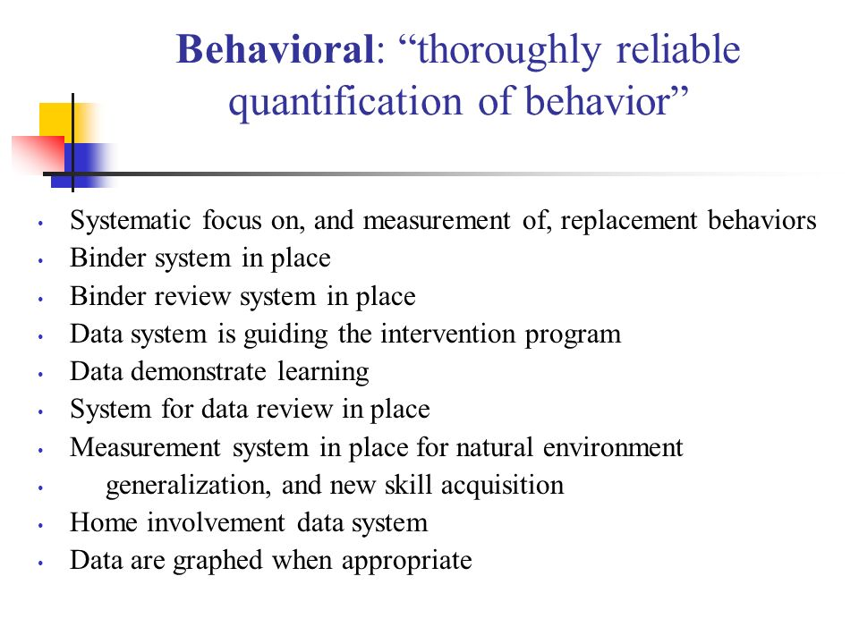 Behavioral: thoroughly reliable quantification of behavior