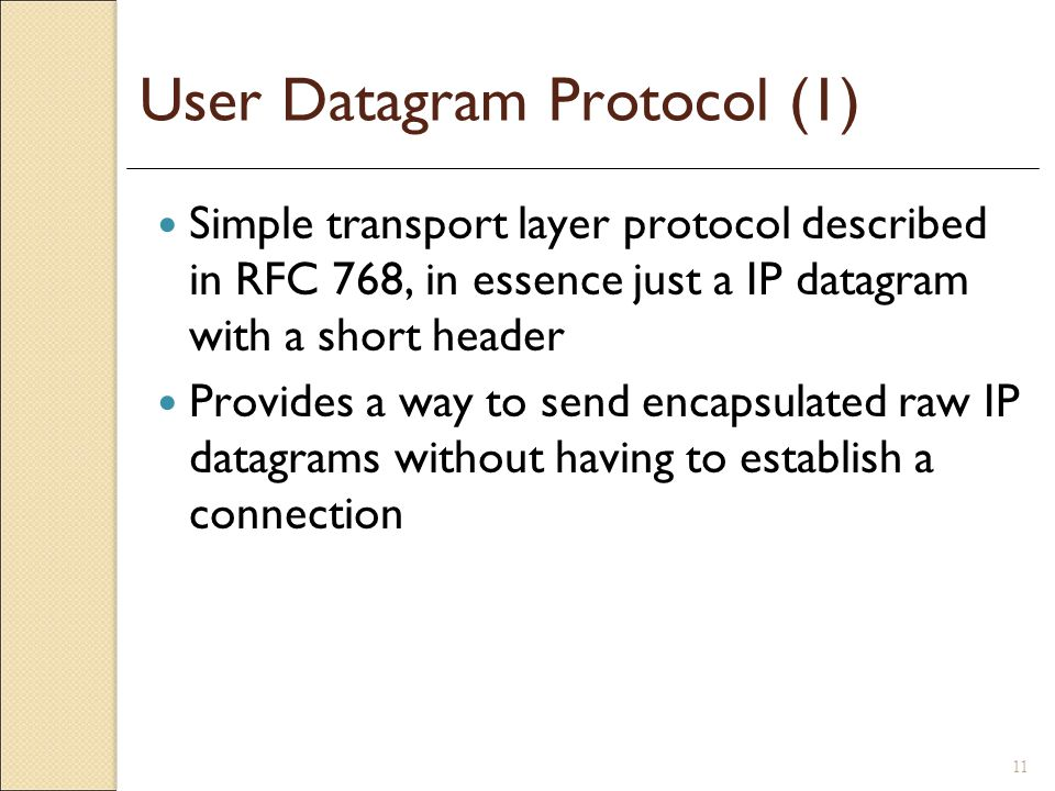 User Datagram Protocol (1)