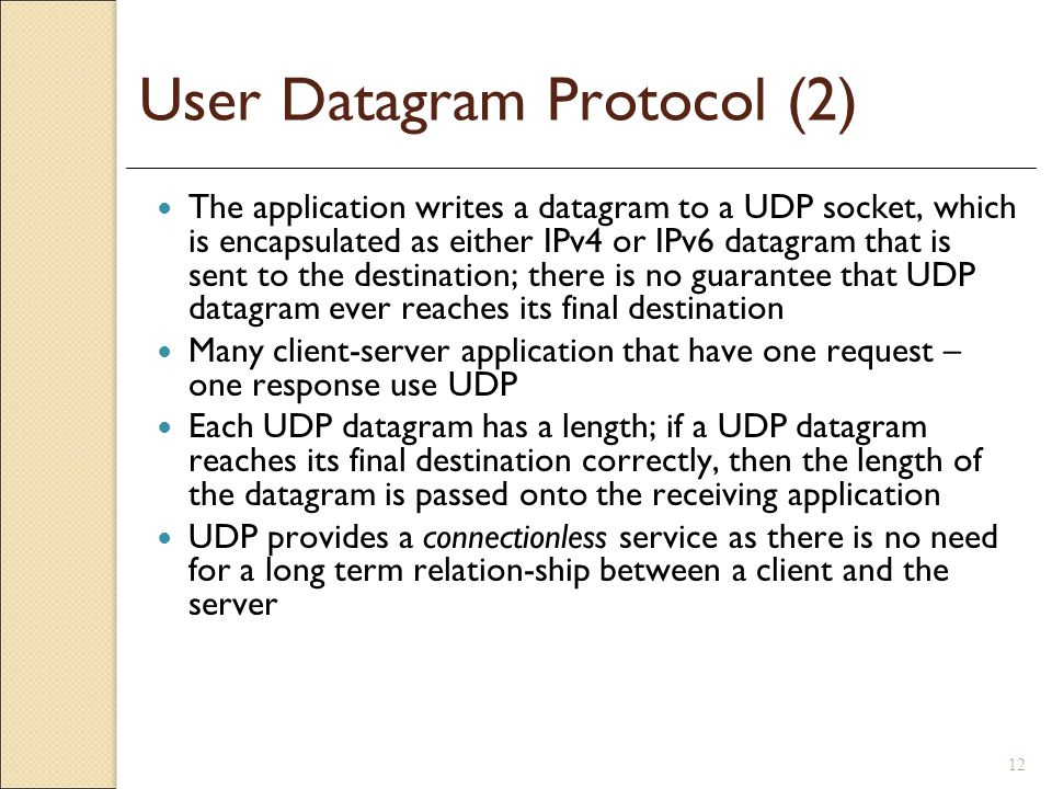 User Datagram Protocol (2)