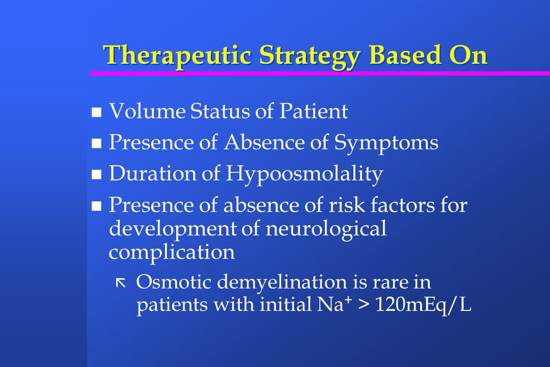 Therapeutic Strategy Based On
