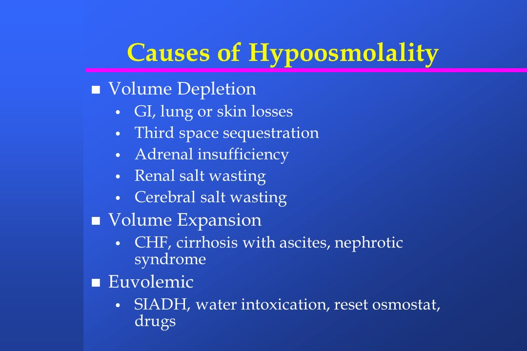 Causes of Hypoosmolality