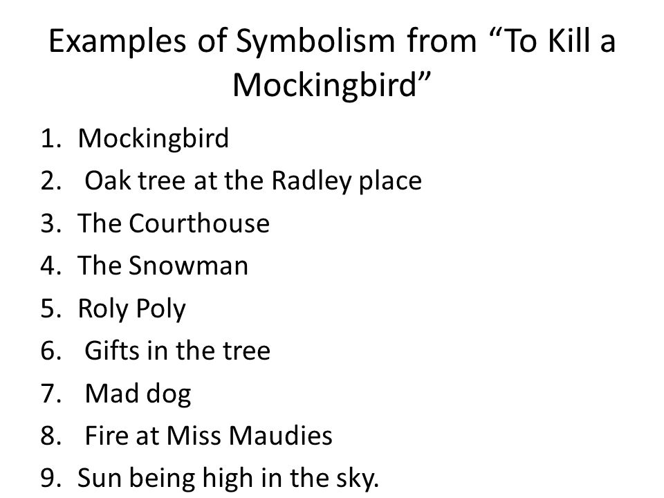 symbolism of prejudice in to kill To kill a mockingbird is a novel by harper lee published in 1960 it was immediately successful,  the book is widely taught in schools in the united states with lessons that emphasize tolerance and decry prejudice  songbirds and their associated symbolism appear throughout the novel.