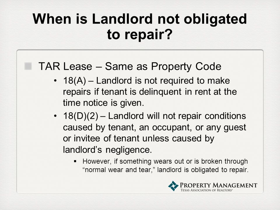 property management webinar series the new repair paragraph of the