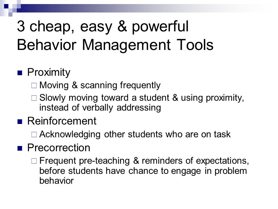 3 cheap, easy & powerful Behavior Management Tools