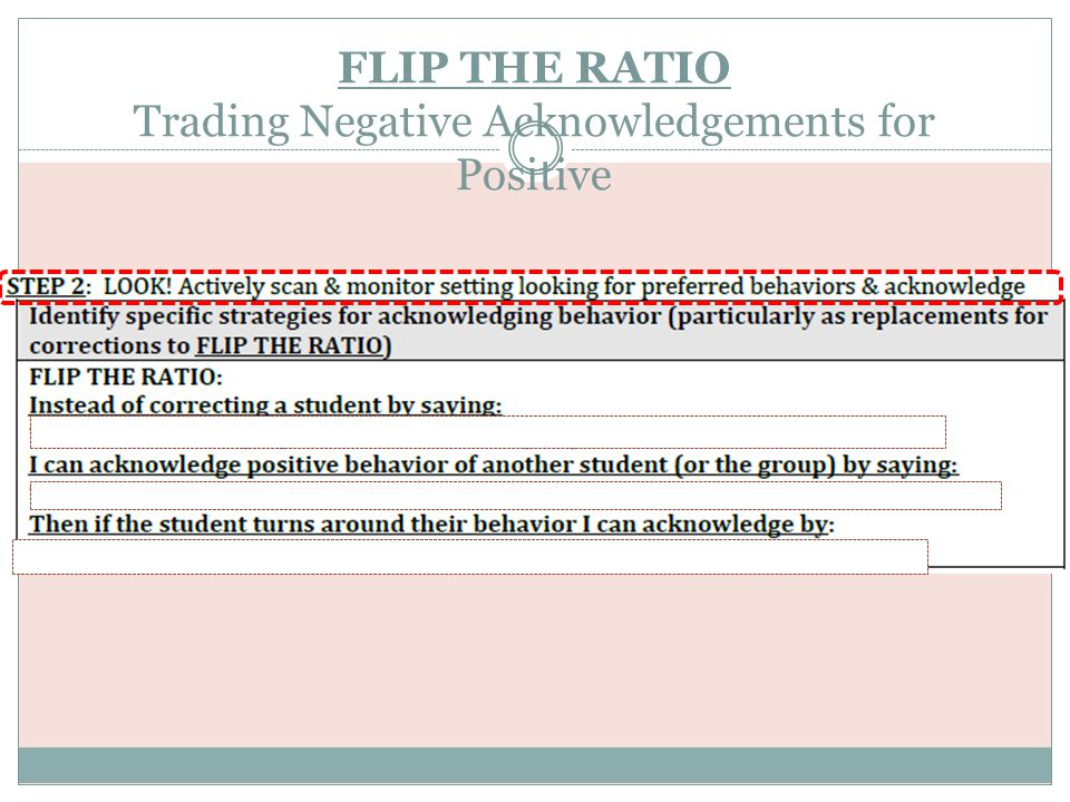 FLIP THE RATIO Trading Negative Acknowledgements for Positive