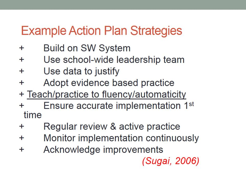 Example Action Plan Strategies