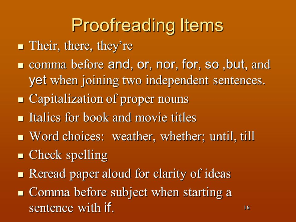 Proofreading Items Their, there, they're