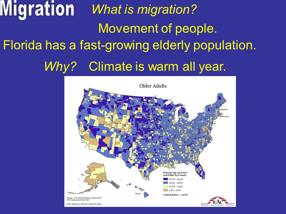 Migration What is migration Movement of people.