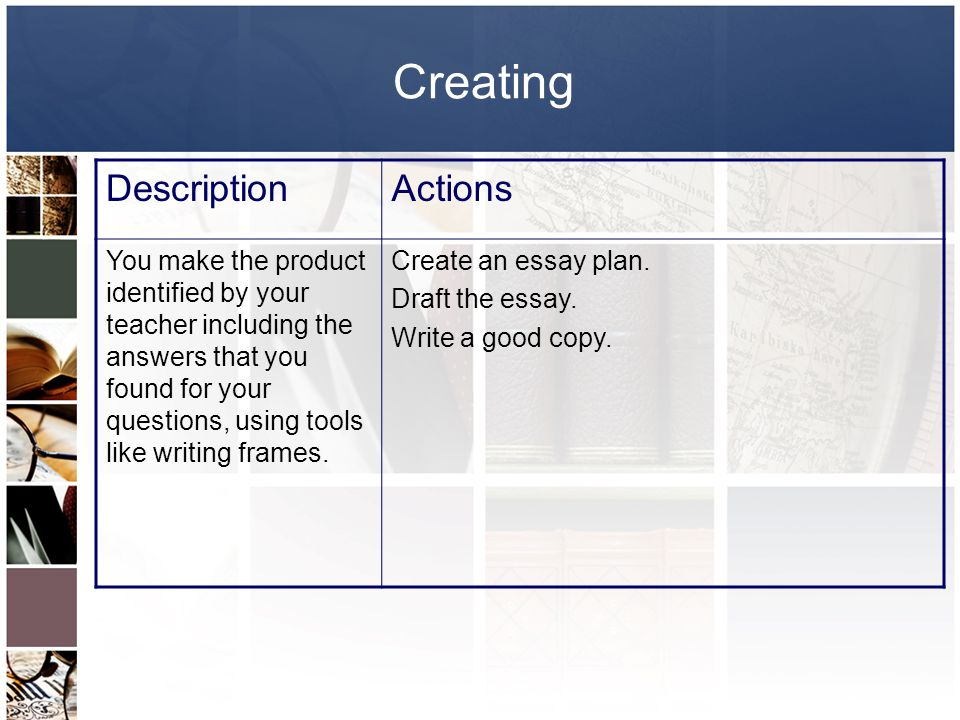 Creating Description Actions