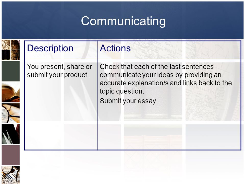 Communicating Description Actions