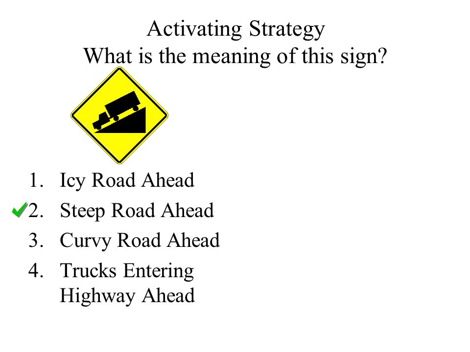 Activating Strategy What is the meaning of this sign