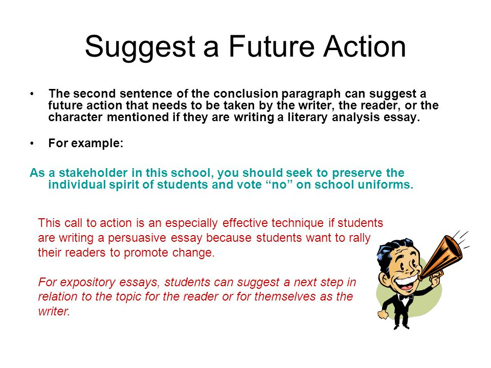 Suggest a Future Action