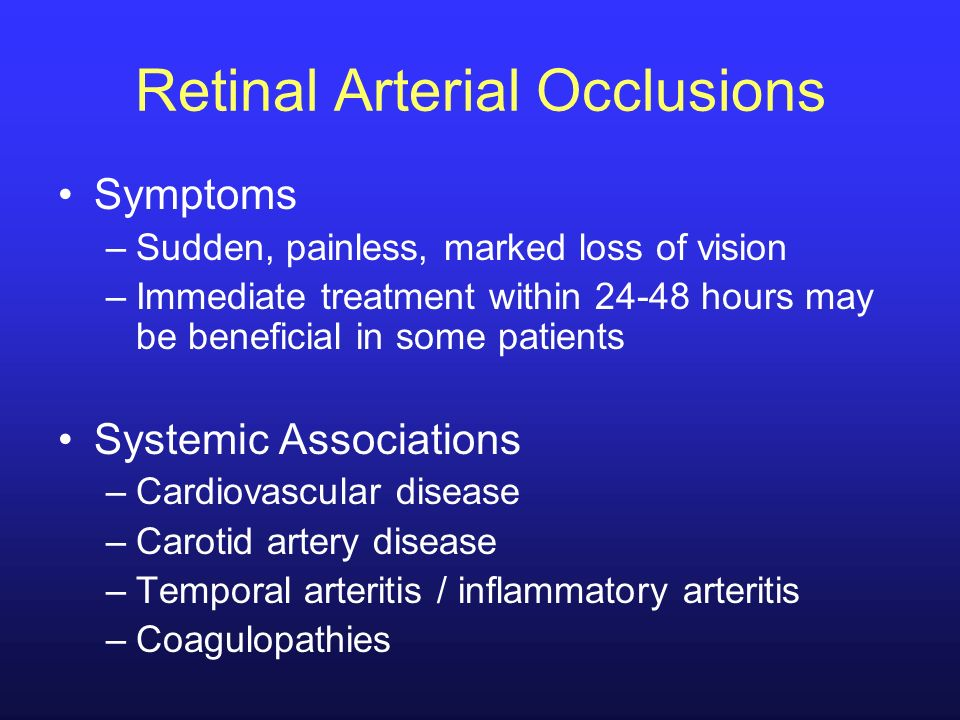 Retinal Arterial Occlusions