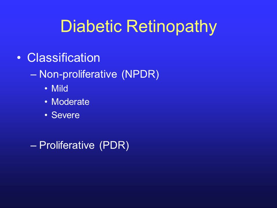 Diabetic Retinopathy Classification Non-proliferative (NPDR)
