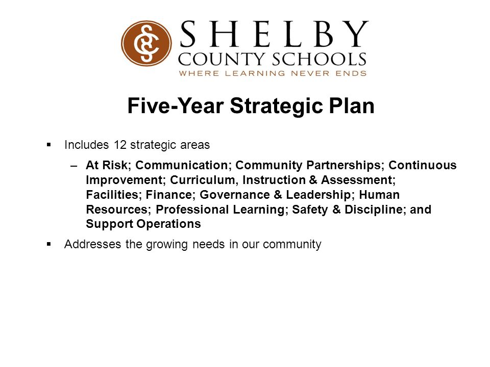 Five-Year Strategic Plan