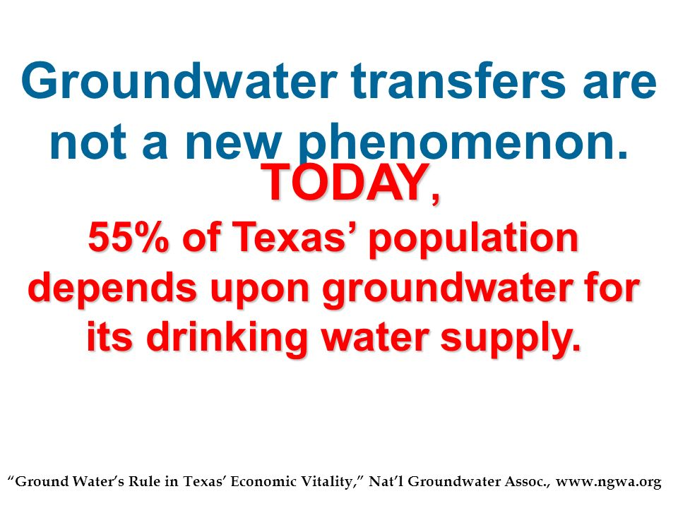 Groundwater transfers are not a new phenomenon.