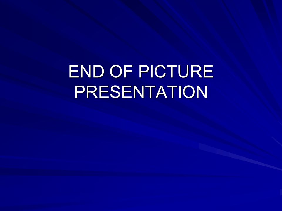 END OF PICTURE PRESENTATION