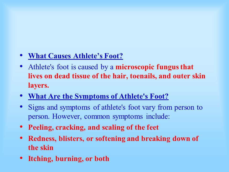 What Causes Athlete's Foot
