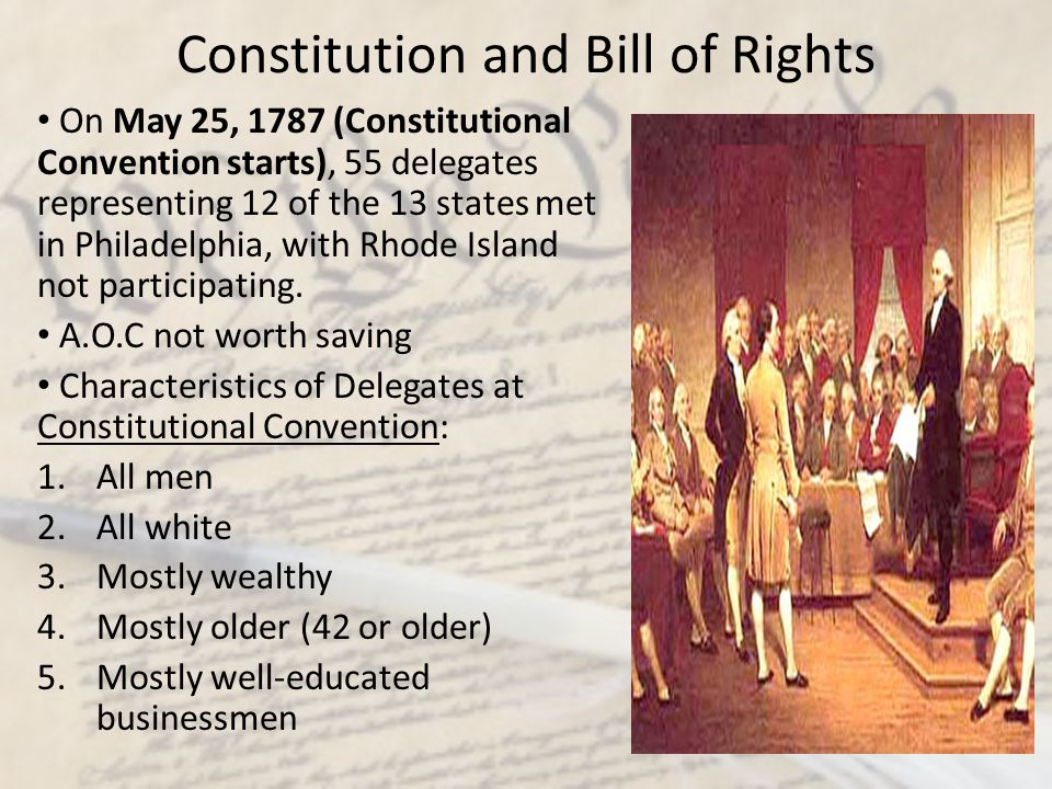 Constitution and Bill of Rights