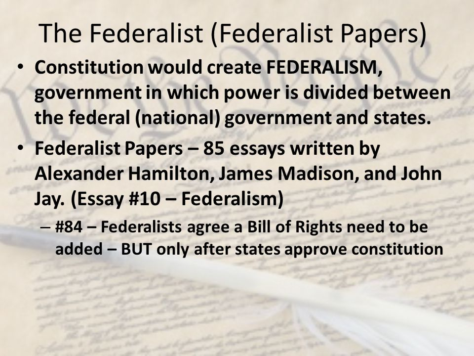 The Federalist (Federalist Papers)