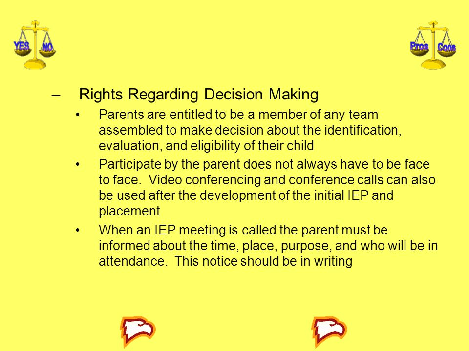 Rights Regarding Decision Making