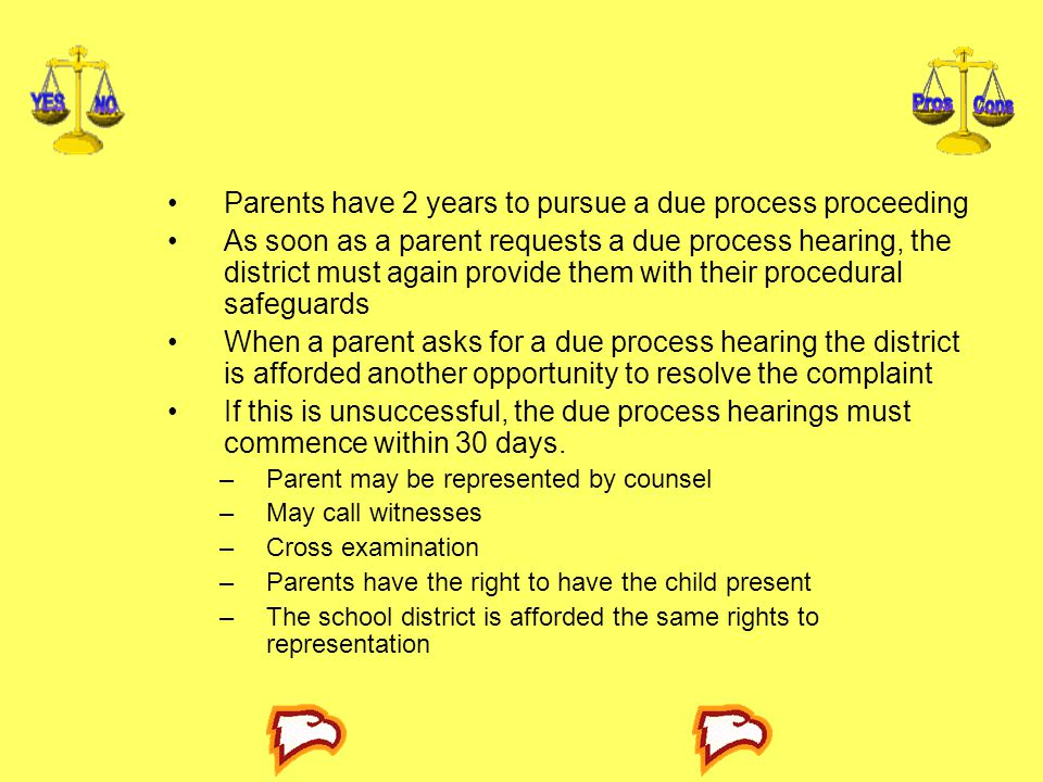 Parents have 2 years to pursue a due process proceeding