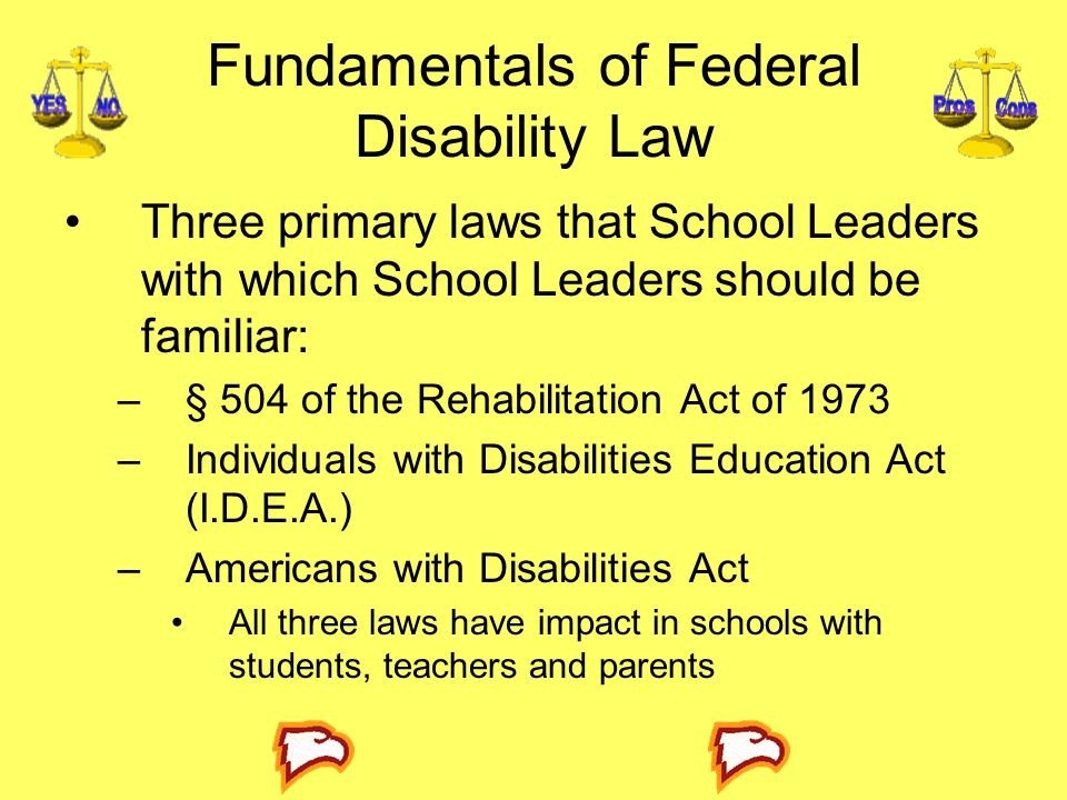Fundamentals of Federal Disability Law