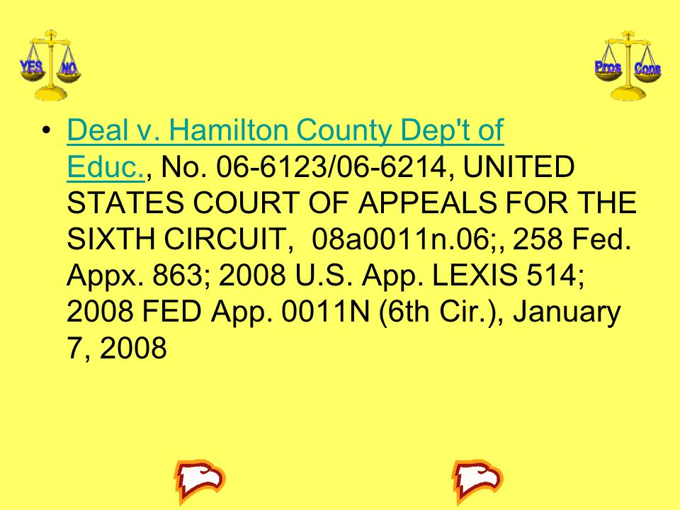 Deal v. Hamilton County Dep t of Educ. , No