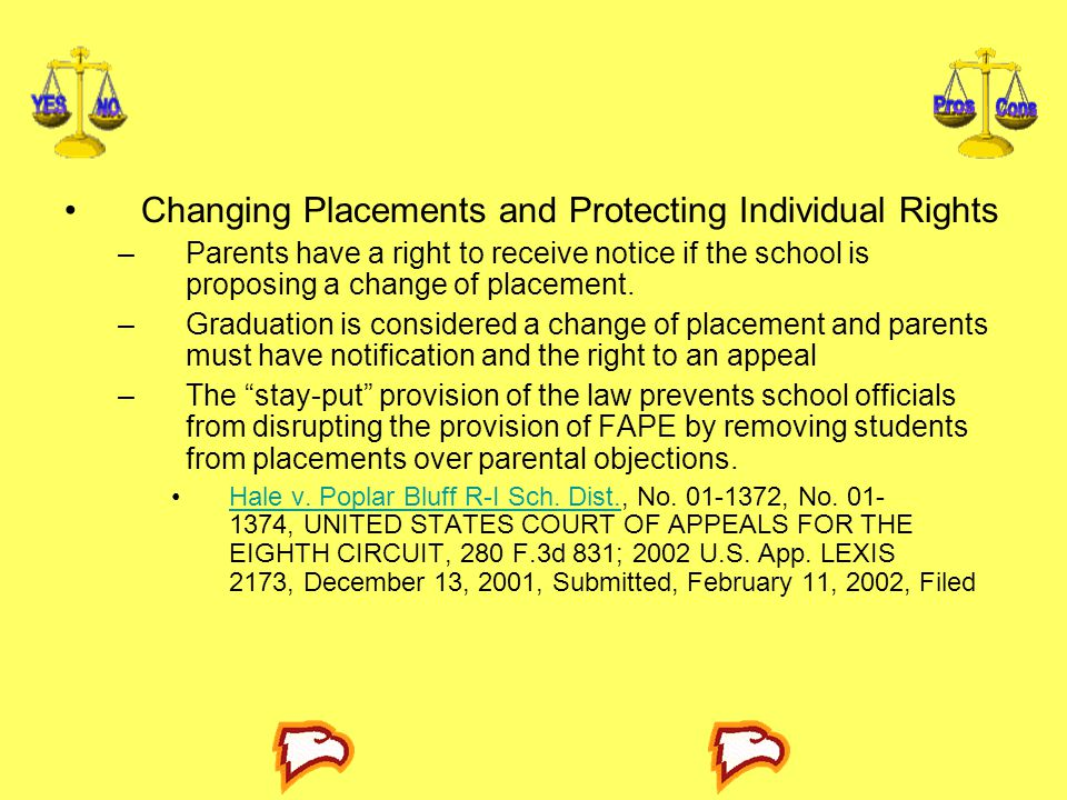 Changing Placements and Protecting Individual Rights