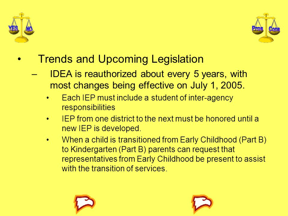 Trends and Upcoming Legislation