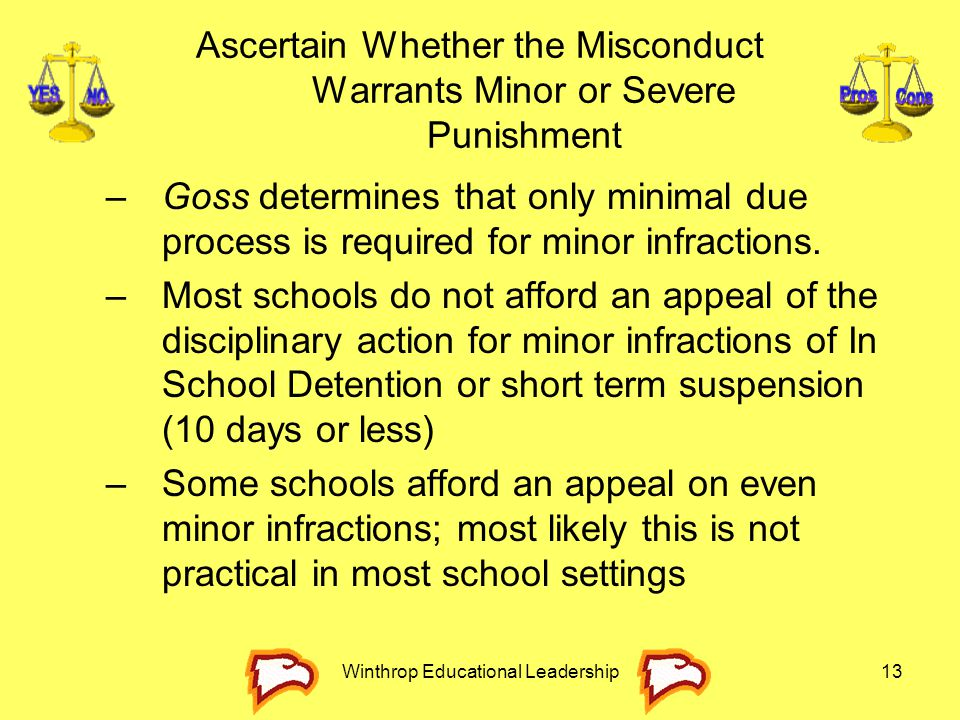 Ascertain Whether the Misconduct Warrants Minor or Severe Punishment