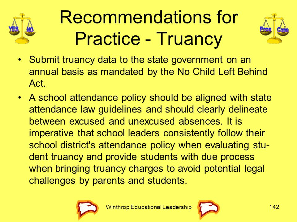 Recommendations for Practice - Truancy