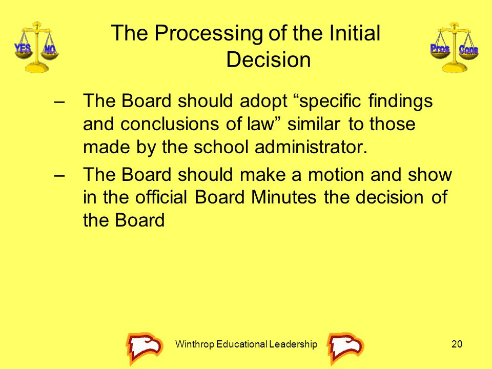 The Processing of the Initial Decision