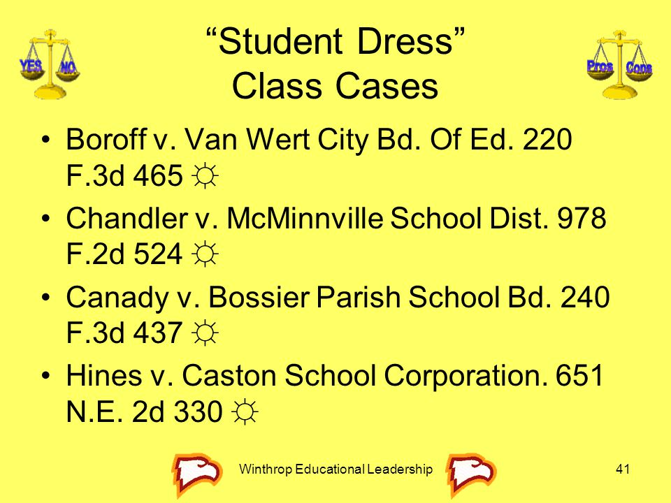 Student Dress Class Cases