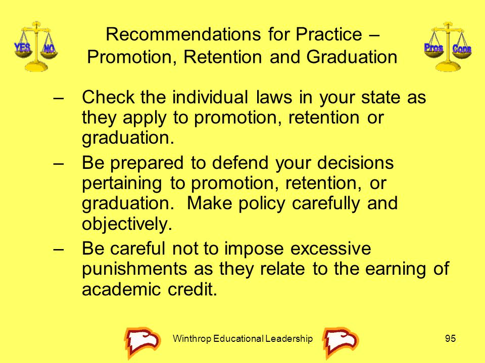 Recommendations for Practice – Promotion, Retention and Graduation
