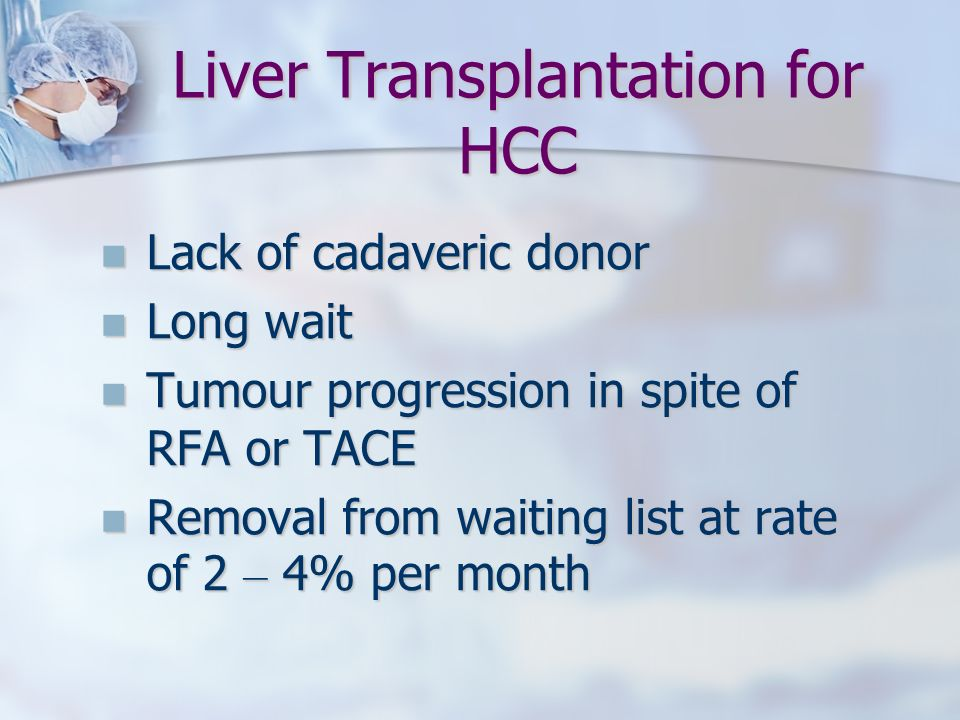 Liver Transplantation for HCC