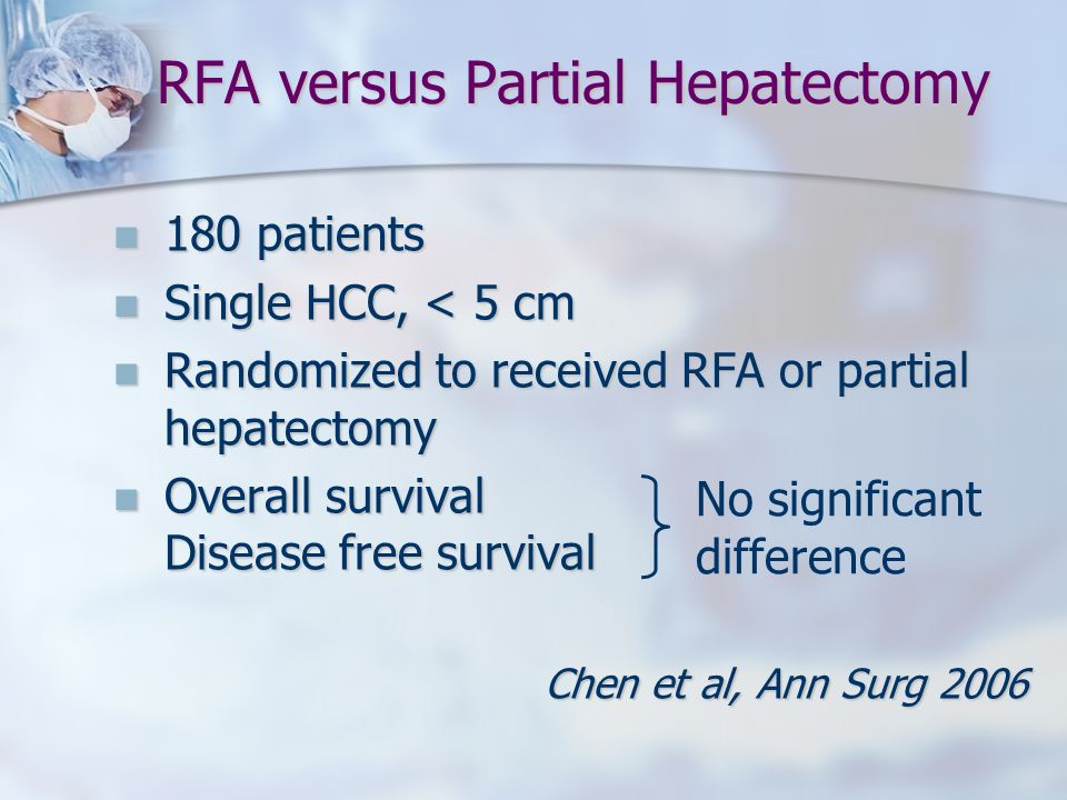 RFA versus Partial Hepatectomy