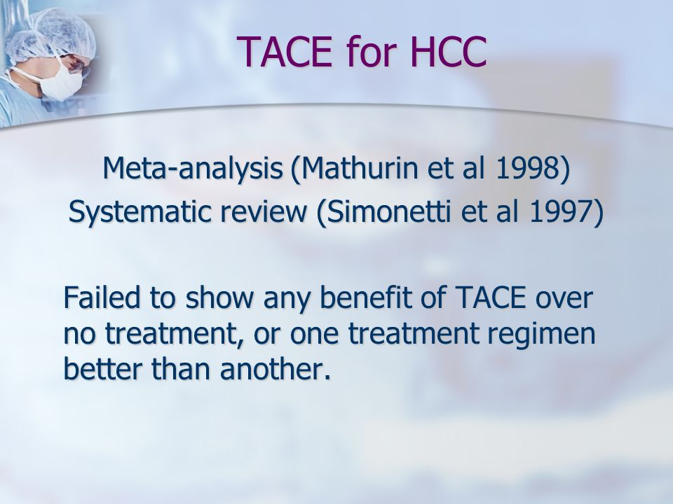 TACE for HCC Meta-analysis (Mathurin et al 1998)