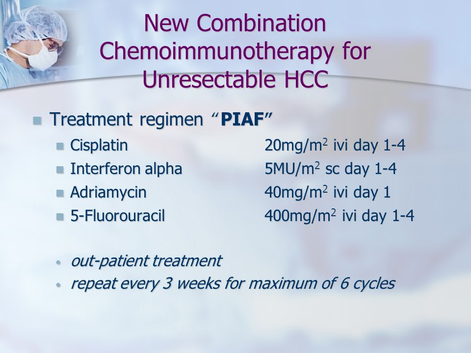 New Combination Chemoimmunotherapy for Unresectable HCC