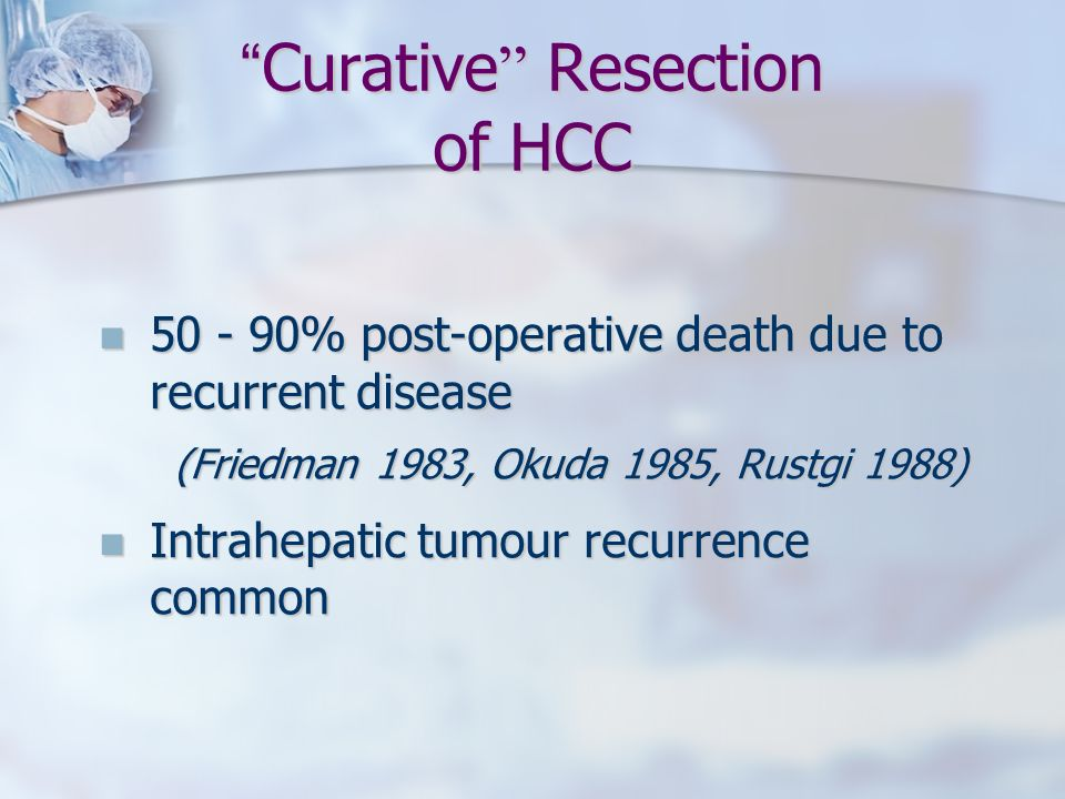 Curative Resection of HCC