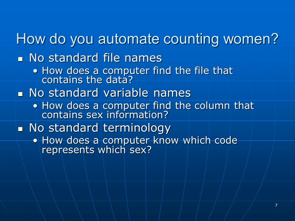How do you automate counting women