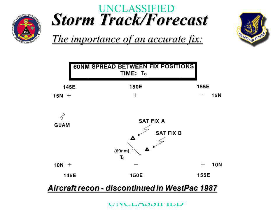 Storm Track/Forecast The importance of an accurate fix: