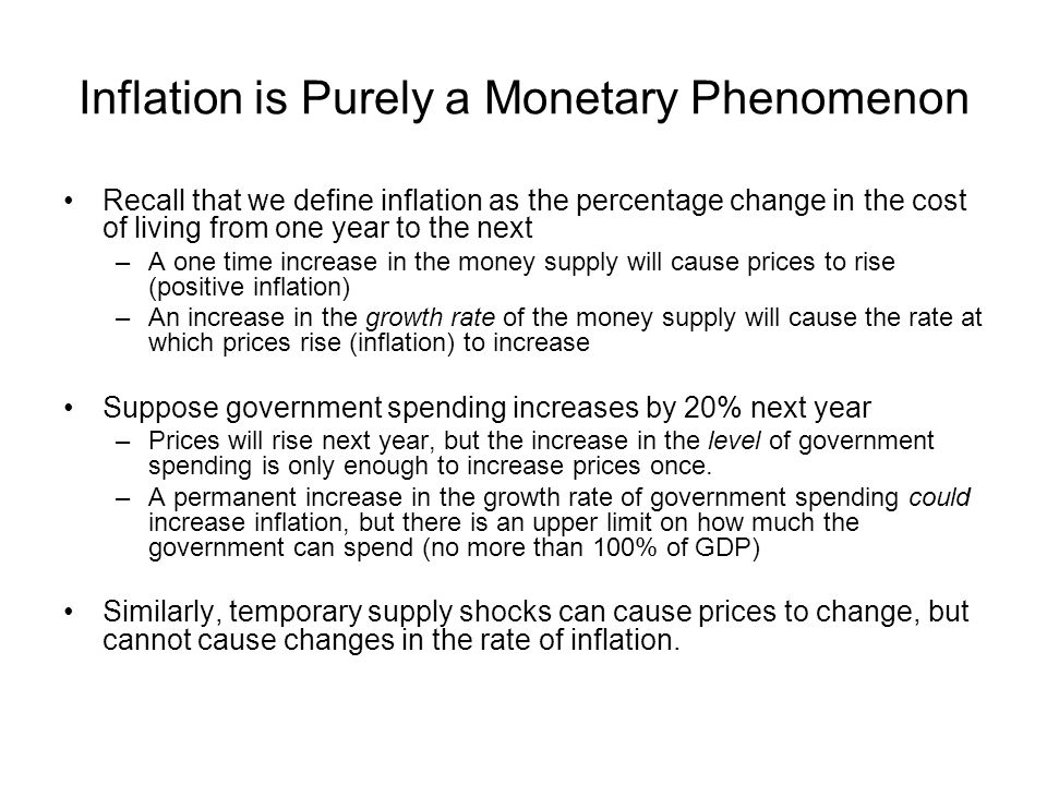 Inflation is Purely a Monetary Phenomenon