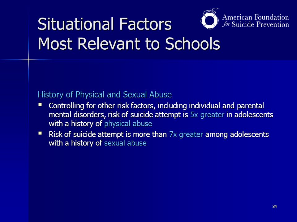 Situational Factors Most Relevant to Schools