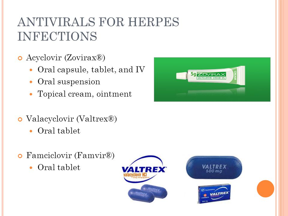 ANTIVIRALS FOR HERPES INFECTIONS