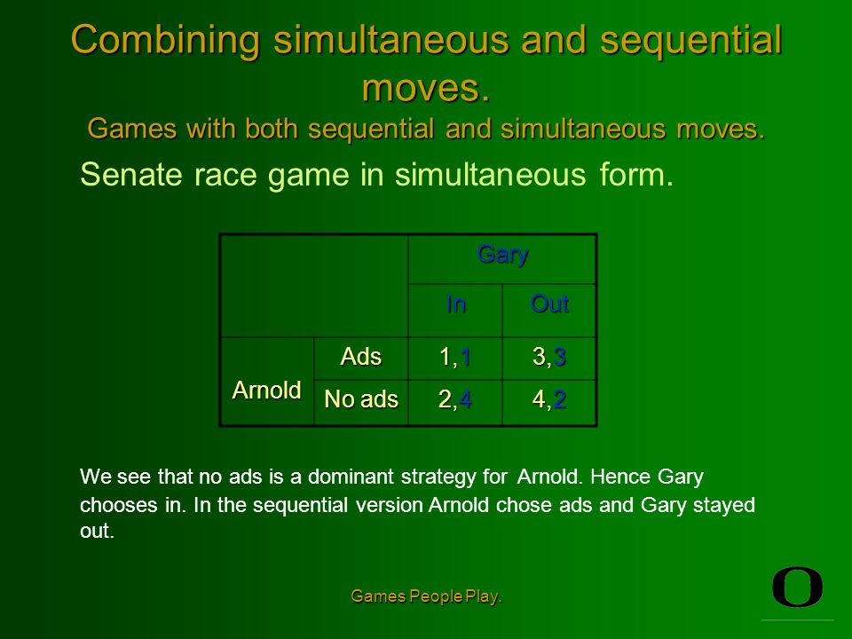 Combining simultaneous and sequential moves